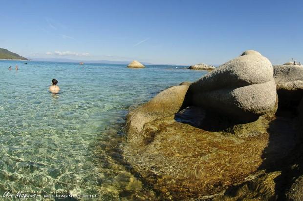 kavourotripes beach- צפון יוון - חלקידיקי - סיטוניה
