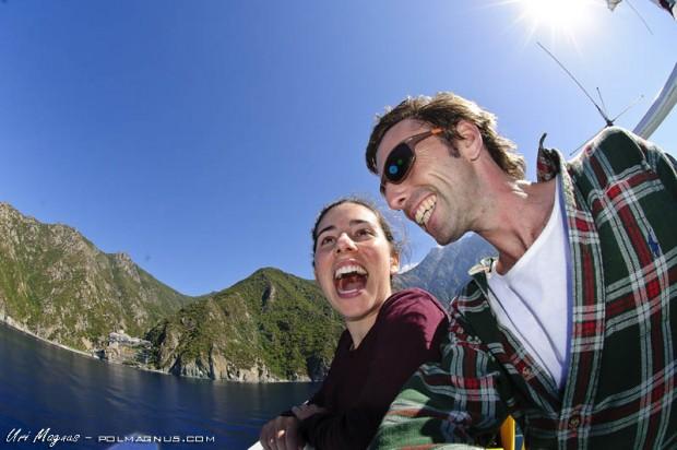 שייט אל המנזרים בהר אטוס - יציאה מormos panagias